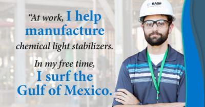 Meet Chris Coletta, Operations Engineer, Light Stabilizers production unit at BASF