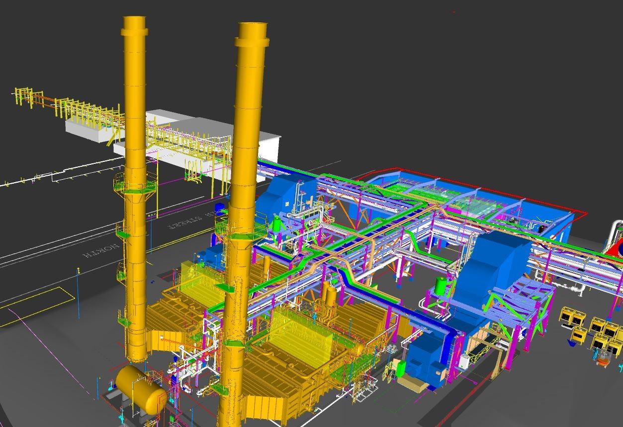 Kimberly-Clark - Hargrove CHP Project - 3D Model