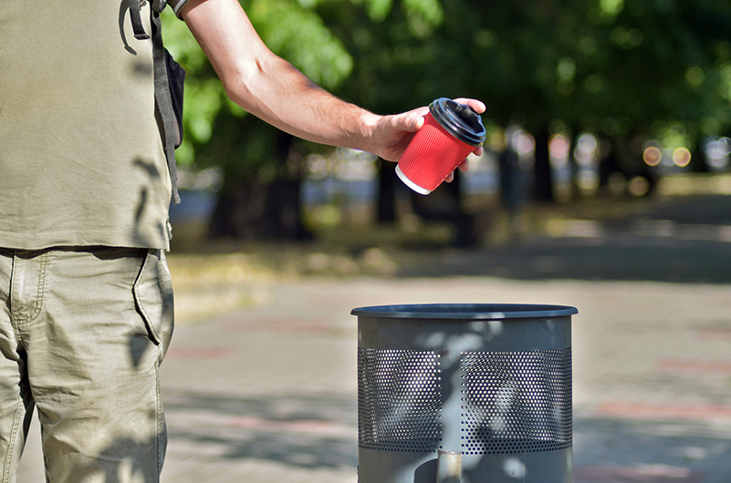 Trash Blows! Stow It! truck trash education program