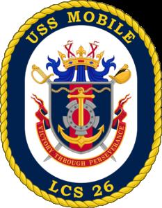 USS Mobile littoral combat ship 26 shield