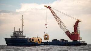 Artificial reef deployment at Dauphin Island